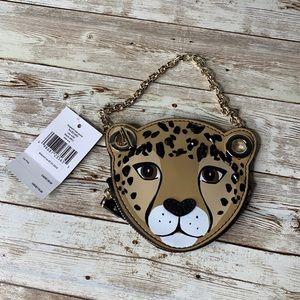 Kate Spade Run Wild Leopard Wristlet Wallet